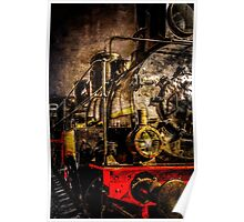 Old Timer Steam Train Poster