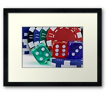 Dice and Poker Chips Framed Print