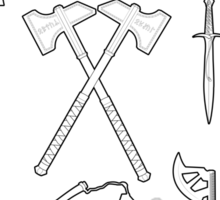 The Weapons of the Company - Black and White Sticker