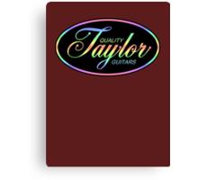 Taylor Guitars Colorful Canvas Print