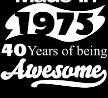 Made in 1975... 40 Years of being Awesome by inkedcreatively