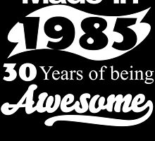 Made in 1985... 30 Years of being Awesome by inkedcreatively