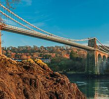 Menai Bridge Landscape by Alec Owen-Evans