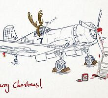 Disney Planes Skipper and Sparky Christmas Card by Solo Swift