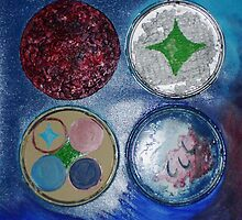 Paint Can Lids (Mixed Media)-  by Robert Dye