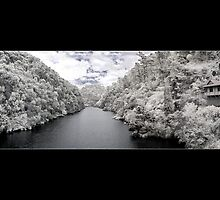 Cataract Gorge, Infrared Panorama by Cameron Gray