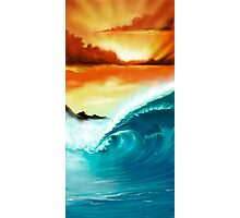 Blue Wave Sunset Photographic Print