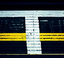 T on the ground (metro ground # 03) by fabricedeloor