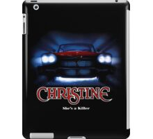Amazing black transparency. Christine. A real killer. iPad Case/Skin