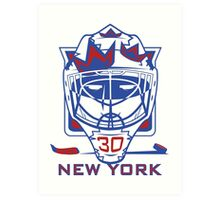 New York Hockey T-Shirt II Art Print