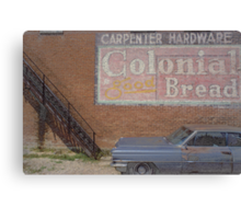 Caddy and Building Canvas Print