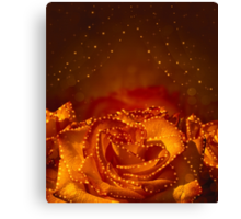 Card with orange roses Canvas Print