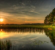 Finnish sunset landscape by macsphotography