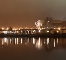 Manchester Ship Canal and the Theatre of Dreams by paulwaters