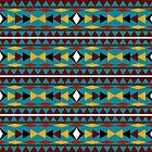 Navajo Teal Pattern by Christina Rollo