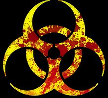 Biohazard Symbol - Bloody by phenommachine