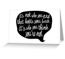 You are great Greeting Card