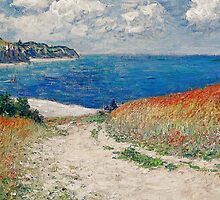 Claude Monet's Path in the Wheat Fields at Pourville-1882 by BritishYank