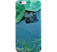 Alligator in the lily pads- Everglades iPhone Case/Skin