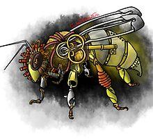 Tampered Temper: Steampunk Honeybee by iampickledtink