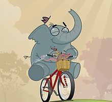 Mr. Elephant & Mr. Mouse by Glenn Melenhorst