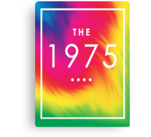 The 1975 — White Logo on Rainbow  Canvas Print
