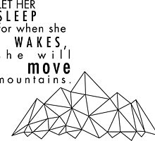She will move mountains by ellemartin