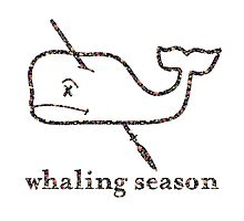 Whaling Season: Vineyard Vines Sucks Floral Logo Photographic Print
