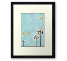 Birds in Trees Framed Print