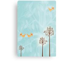 Birds in Trees Metal Print