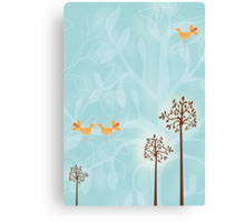 Birds in Trees Canvas Print