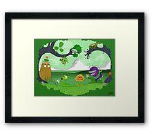 Plants vs Zombies land! Framed Print