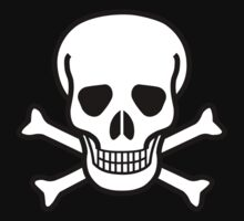 Pirate Skull with crossbones. Lethal danger and poison. by 2monthsoff