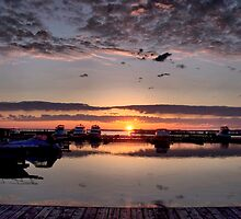 Sunrise on Harbour 2 by Gracey