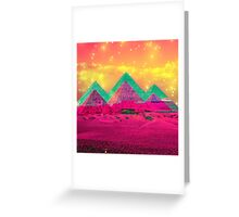 Trippy Pyramids Greeting Card