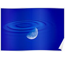 Blue Moon in Blue Pool Poster