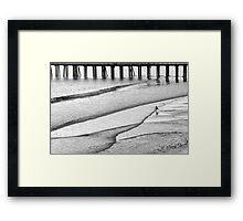 Skim Surfing Framed Print