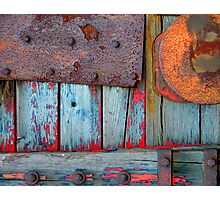 Blue Shunting Wagon Photographic Print