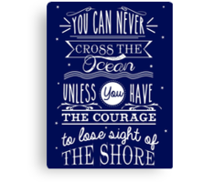 CROSS THE OCEAN Canvas Print
