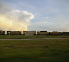 Coal Train, Off I-80 by Kathleen Madrid