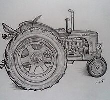 Tractor drawing by RobCrandall