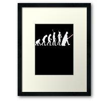 The Dark Side Of Evolution - White  Framed Print