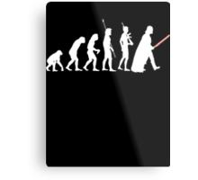 The Dark Side Of Evolution - White  Metal Print