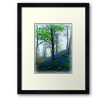 Misty Blue Hillfort Framed Print