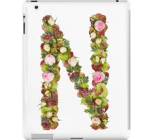 Capital Letter N Part of a set of letters, Numbers and symbols iPad Case/Skin