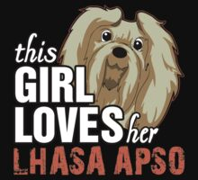 This Girl Loves Her Lhasa Apso Kids Clothes