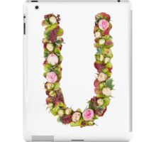 Capital Letter U Part of a set of letters, Numbers and symbols iPad Case/Skin