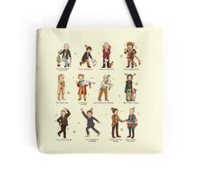 The Twelve Doctors of Christmas Tote Bag