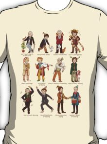 The Twelve Doctors of Christmas T-Shirt