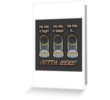 He Hits It High...! Greeting Card